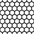 Vector Modern Seamless Geometry Pattern Hexagon, Black And White Honeycomb Abstract Stock Image - 68697501