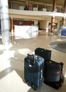 Suitcases In Hotel Lobby Stock Photos - 6870603