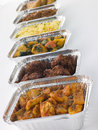 Selection Of Indian Take Away Dishes Royalty Free Stock Photography - 6879017