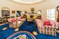Little Rock, AR/USA - Circa February 2016: Replica Of White House S Oval Office In Bill Clinton Presidential Center And Library Royalty Free Stock Photography - 68707887