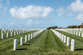 Grave Markers At Fort Rosecrans National Cemetery In San Diego Stock Photos - 68712673