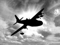 Silhouette Of Vintage World War 2 Flying Boat Royalty Free Stock Photo - 68730715