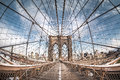 Brooklyn Bridge From A Fish Eye Perspective, New York City Royalty Free Stock Image - 68739556