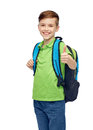 Happy Student Boy With School Bag Royalty Free Stock Photo - 68745485