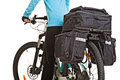 Female Mtb Cyclist  With Saddlebag. Royalty Free Stock Photo - 68746035
