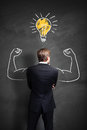 Strong Businessman Has An Idea Royalty Free Stock Image - 68758416