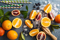 Making Citrus Smoothies And Drinks Stock Image - 68764971