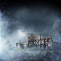 Apocalyptic Ruins Of The City. Disaster Effect Royalty Free Stock Photos - 68773698