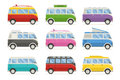 Summer Tourist Bus Colorful Vector Icons Stock Photo - 68776610