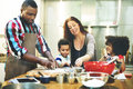 Family Cooking Kitchen Food Togetherness Concept Stock Image - 68793711