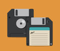 Retro Diskettes Design, Vector Illustration Royalty Free Stock Photography - 68797777