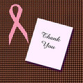 Pink Ribbon Thanks Stock Images - 6888284