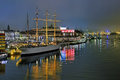 Harbor Of Gothenburg With The Ship Barken Viking And Opera House, Sweden Royalty Free Stock Image - 68806936