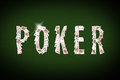 Falling Cards Make The Word POKER. Desktop Background Stock Images - 68820644
