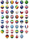 Football Soccer Balls With National Flag Textures Royalty Free Stock Photo - 68845605