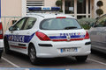 French Police Car Peugeot 308 Royalty Free Stock Photos - 68852208