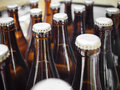 Beer Breweries Packaging Bottles With Cap Close Up Stock Image - 68868511