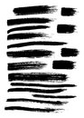 Vector Set Of 17 Different Grunge Hand Paint Brush Strokes Stock Photography - 68876202