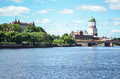 VYBORG, RUSSIA: The Medieval Old Castle In June 15, 2015,  LENINGRAD OBLAST, Russia. Royalty Free Stock Image - 68881046
