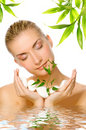 Woman Holding Young Plant Stock Image - 6890711
