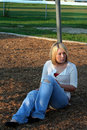 Blond On Playground 3 Royalty Free Stock Image - 6892116