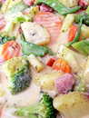Vegetables In Sauce Royalty Free Stock Photos - 6894888