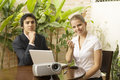 Couple With Projector Stock Photography - 6896022