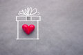 Love Heart In Drawing Present Box Royalty Free Stock Photos - 68916838