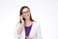 Businesswoman With Cell Phone Royalty Free Stock Photo - 68934385
