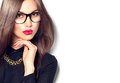 Beauty Sexy Fashion Model Girl Wearing Glasses Royalty Free Stock Photo - 68940985