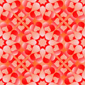 Seamless Pattern For Valentine S Day With White And Red Gradient Hearts On Orange Background Royalty Free Stock Photography - 68951157
