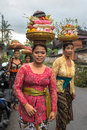 Women Carrying Offerings For Wedding Stock Photography - 68951622