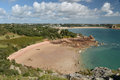 Beauport Bay On South Coast Of Jersey Royalty Free Stock Images - 68957789