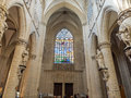 Inside Of St Michael & St Gudule Cathedral Royalty Free Stock Photography - 68961367