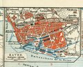 Old Map Of 1890, The Year With The Plan Of The French City Of Le Havre. Royalty Free Stock Image - 68984056