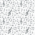 Musical Notes Seamless Pattern Background Stock Photography - 68986012