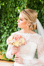 Nice Wedding Bouquet In Bride S Hand Royalty Free Stock Photos - 68993038