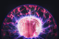Brain Power Concept With Abstract Light Rays Royalty Free Stock Image - 68993726