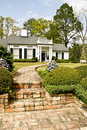 Executive Home With Brick Walkway Royalty Free Stock Image - 6901426