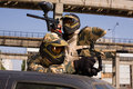 Two Paintball Players Hunting Royalty Free Stock Photo - 6903595