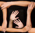 Strong Team Of Hands Stock Images - 6907834