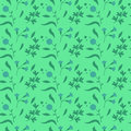 Colorful Cute Floral Set With Leaves And Flowers Seamless Pattern Stock Image - 69000591