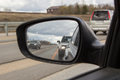 Road Under Gray Clouds In Car Mirror Stock Images - 69001544