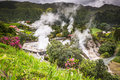 Hot Spring Waters In Furnas, Sao Miguel. Azores. Portugal Stock Photography - 69004992