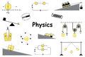 Physics And Science Icons Set Royalty Free Stock Image - 69017016