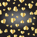 Seamless Texture From Golden Hearts Stock Photography - 69020922