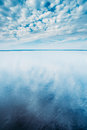 Cloudscape Over Water Surface Of Lake Pond River. Nature, Background Stock Image - 69028511