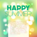 Blurred Summer Postcard Royalty Free Stock Image - 69039656