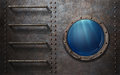 Submarine Or Ship Porthole With Underwater View Royalty Free Stock Images - 69048039