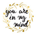 You Are Always In My Mind Card. Royalty Free Stock Photography - 69053897